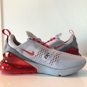 Nike Shoes - Nike Air Max 270 Wolf Grey Red AH8050-018